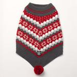 View Image 2 of Prancer's Knit Dog Poncho - Holiday Red