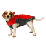 View Image 2 of Cloak & Dawggie Precision Fit Sport Dog Parka - Red and Black