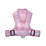 View Image 1 of Precision Fit Gingham Dog Harness - Pink