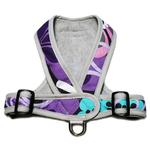 View Image 2 of Precision-Fit Nylon Dog Harness - Purple Floral