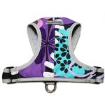 View Image 1 of Precision-Fit Nylon Dog Harness - Purple Floral
