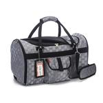 View Image 2 of Prefer Pets Hideaway Duffel Dog Carrier - Silver Deluxe