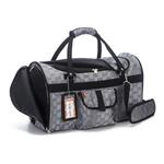 View Image 3 of Prefer Pets Hideaway Duffel Dog Carrier - Silver Deluxe