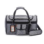 View Image 1 of Prefer Pets Hideaway Duffel Dog Carrier - Silver Deluxe