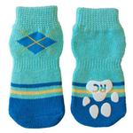 View Image 1 of Preppy PAWks Dog Socks - Blue