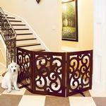 View Image 3 of Primetime Petz Classic Designer Dog Gate - Walnut