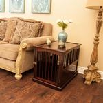 View Image 3 of Primetime Petz End Table Dog Crate - Walnut