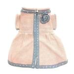 View Image 1 of Princess Charlotte Dog Sweater Dress by Oscar Newman - Peach