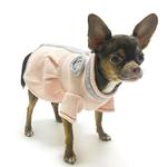 View Image 3 of Princess Charlotte Dog Sweater Dress by Oscar Newman - Peach