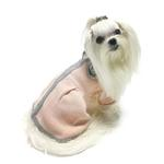View Image 2 of Princess Charlotte Dog Sweater Dress by Oscar Newman - Peach