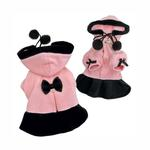 View Image 1 of Princess Dog Dress Coat with Detachable Hood by Klippo