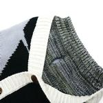 View Image 5 of Professor Cardigan Dog Sweater by Dogo - Gray