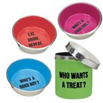 View Image 2 of Proselect Chitchat Stainless Dog Treat Canister - Green