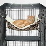 View Image 1 of ProSelect ThermaPet Cat Cage Hammock - Brown Leopard