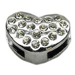 View Image 1 of Puffy Heart Slider Dog Collar Charm - Clear