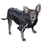 View Image 3 of Puppagonia Crown Dog Rain Parka by Hip Doggie - Black