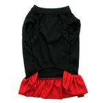 View Image 3 of Puppy Love Screen Print Dog Dress - Black with Red Skirt