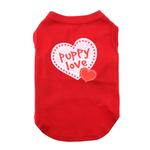 View Image 1 of Puppy Love Screen Print Dog Shirt - Red