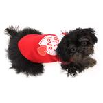 View Image 3 of Puppy Love Screen Print Dog Shirt - Red