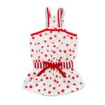 View Image 1 of PuppyPAWer Bubble Dog Sun Dress by Dogo - Red