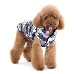 View Image 4 of PuppyPAWer Camo Sports Dog Coat by Dogo - Gray