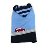 View Image 1 of PuppyPAWer Car Sweater Dog Sweater by Dogo - Blue