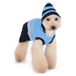 View Image 3 of PuppyPAWer Car Sweater Dog Sweater by Dogo - Blue