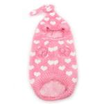 View Image 3 of PuppyPAWer Heart Hoodie Dog Sweater by Dogo - Pink