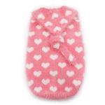 View Image 1 of PuppyPAWer Heart Hoodie Dog Sweater by Dogo - Pink