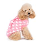 View Image 2 of PuppyPAWer Heart Hoodie Dog Sweater by Dogo - Pink