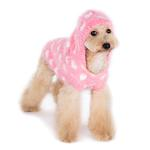 View Image 4 of PuppyPAWer Heart Hoodie Dog Sweater by Dogo - Pink