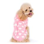 View Image 5 of PuppyPAWer Heart Hoodie Dog Sweater by Dogo - Pink