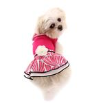 View Image 6 of PuppyPAWer Lady Flower Dog Dress by Dogo - Raspberry