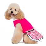 View Image 4 of PuppyPAWer Lady Flower Dog Dress by Dogo - Raspberry