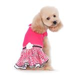 View Image 2 of PuppyPAWer Lady Flower Dog Dress by Dogo - Raspberry