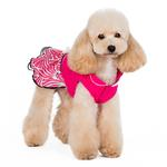 View Image 5 of PuppyPAWer Lady Flower Dog Dress by Dogo - Raspberry
