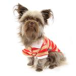 View Image 2 of PuppyPAWer Stripe Dog Polo by Dogo - Red
