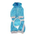 View Image 2 of PuppyPAWer Terry Hoody Jumper by Dogo - Blue