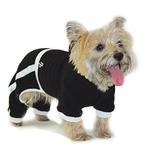 View Image 2 of PuppyPAWer Terry Hoody Jumper by Dogo - Black