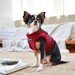 View Image 4 of Puppytooth Vest Dog Harness By Puppia - Wine