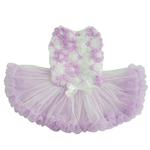 View Image 1 of Purple Flower Dog Petti Dress By Pawpatu