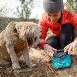 View Image 5 of Quencher Cinch Top Dog Bowl by RuffWear - Meltwater Teal