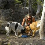 View Image 3 of Quencher Travel Dog Bowl by RuffWear - Blue Moon