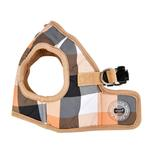 View Image 3 of Quinn Plaid Vest Dog Harness by Puppia - Beige