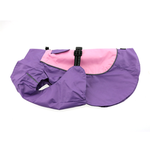View Image 1 of Dog Raincoat Body Wrap by Doggie Design - Pink and Lavender