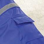 View Image 2 of Dog Rain Jacket with Reflective Strip - Blue