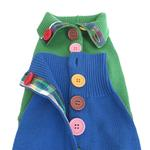 View Image 4 of Rainbow Button Dog Sweater by Beverly Hills Dog - Blue