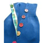 View Image 3 of Rainbow Button Dog Sweater by Beverly Hills Dog - Blue