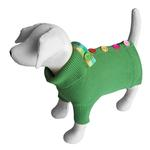 View Image 1 of Rainbow Button Dog Sweater by Beverly Hills Dog - Green