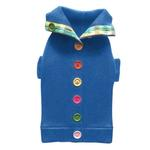 View Image 2 of Rainbow Button Dog Sweater by Beverly Hills Dog - Blue